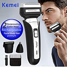 Kemei 3In1 Electric Hair Cut Clipper Nose Beard Trimmer Shaver Groomer Cordless