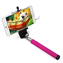 Z07 - 5S 3.5mm USB Cable Connection Extendable Self Portrait Selfie Handhold Stick Monopod With Adjustable Holder