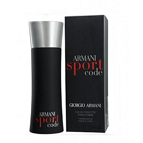 6bf1679b56cc GIORGIO ARMANI Armani Code Sport For Men EDT-75ml   Best Price ...