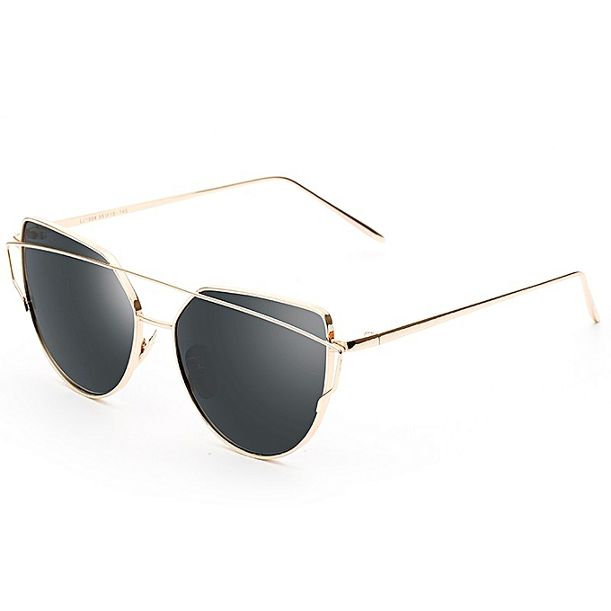 62c09d4b002 Men And Women Retro Style Sunglasses New Metal Color Film Glasses- Gold  Frame All Gray