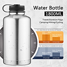 1.8L Double Water Drink Bottle Wall Vacuum Stainless Steel Insulated Beer Mug