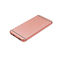 Power Bank -  20,000 mAh - Popular Design With Polymer Fast Charging Battery - Rose Gold