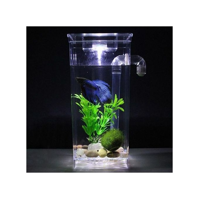 Generic self cleaning plastic fish tank desktop aquarium for Self cleaning betta fish tank