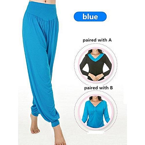 184de3e8f7b25 Buy Generic Women Professional Fitness Dancing Yoga Pants Jogging Running  Sport Long Trousers Loose Modal Cotton Sport Trousers Plus Size M-3XL Lake  Blue ...