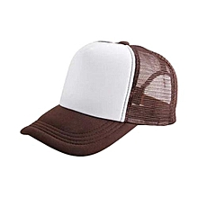 New Arrival Adjustable Child Solid Casual Hats For New Classic Trucker Summer Kids Baseball Golf Mesh Cap Sun Hats(Brown)