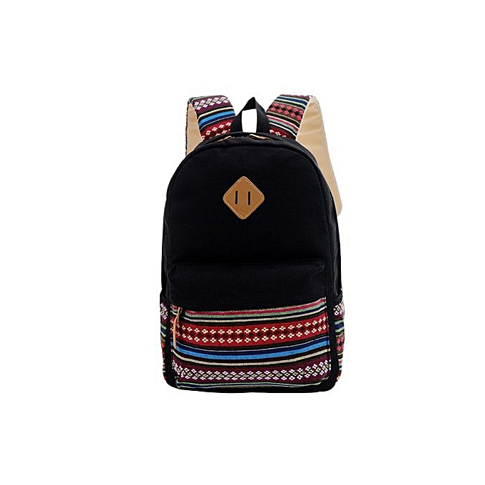 256e251b080c Xingbiaocao New Womens Girls Canvas Vintage Backpack Rucksack College  Shoulder School Bag BK -Black