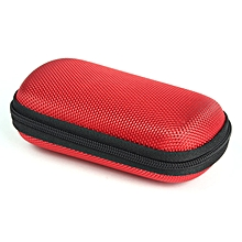 Portable Pocket Storage Bag For Headphone Earphone Earbuds TF SD Ca -Red