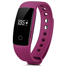 ID107 - Smart Bracelet Heart Rate Call SMS Reminder Watch - Purple