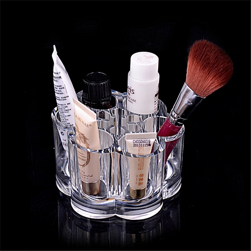 ad1889d43e0c Plum Flower Clear Shaped Cosmetic Lipstick Brush Holder Desktop Storage Box  Hot Selling Cosmetic Makeup Organizer Case