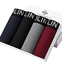 4pcs Set 3D UV Design Mens Cotton Boxer Shorts - A