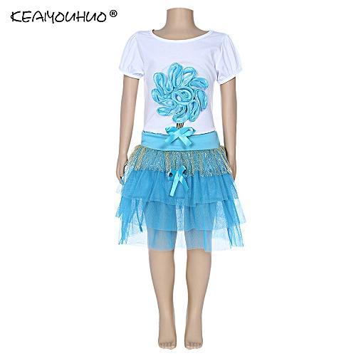 Fashion Keaiyouhuo Girls Clothing Set Floral Print T Shirt Bubble