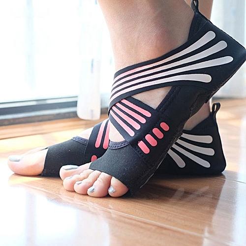 1 Pair Anti-Slip Yoga Socks Toeless Pilates Socks Ballet Yoga Pilates Barre  Shoes for