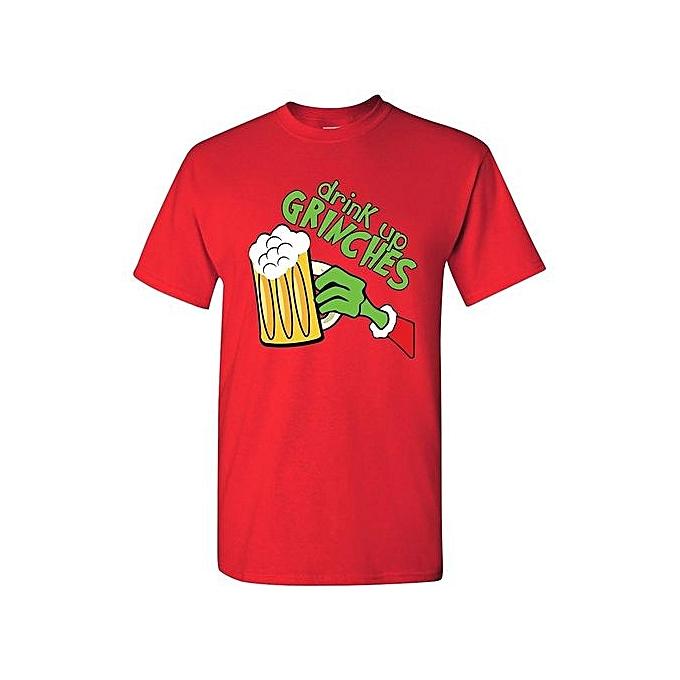 4e780180d17 Drink Up Grinches Funny Christmas Xmas Drinking Mens T-Shirt Short Sleeve T- shirt