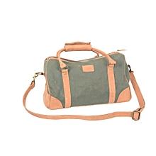 Canvas/ leather mix ladies handbag- loitoktok