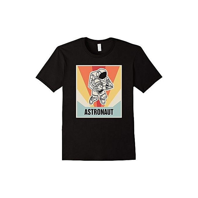 4599d41f5f88e8 Vintage Astronaut T-Shirt Fashion Short Sleeved T Shirts Summer Funny Tee  Shirt For Men