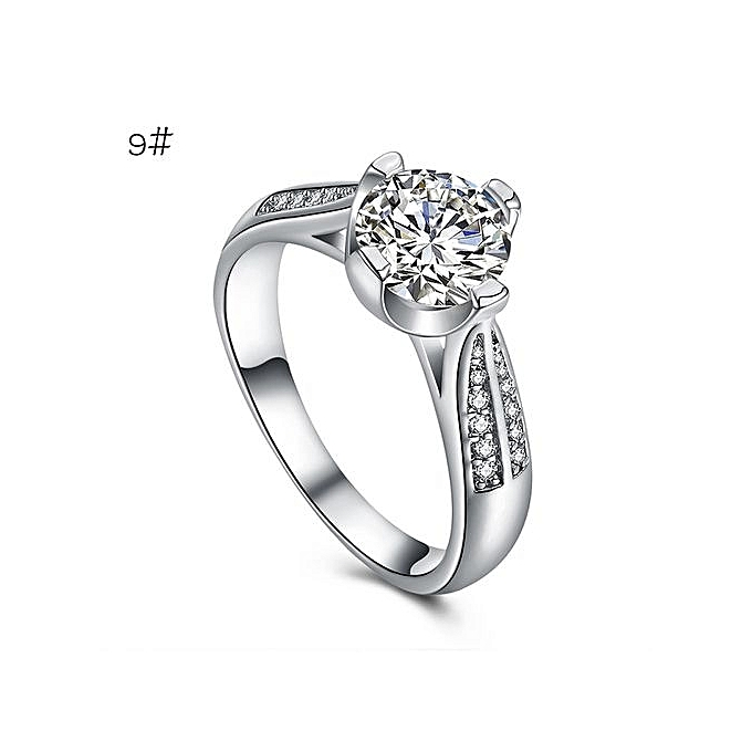 Flower Crystal Wedding Ring For Women Jewelry Accessories Rose Gold Engagem Silver