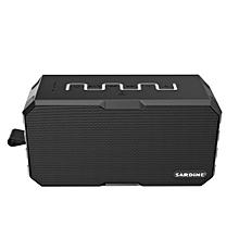 New Wireless Bluetooth Speaker TF Ca Mic Waterproof 2600mah Power Bank-Gray