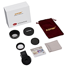 ZOMEI Professional 0.6X/0.45X Wide Angle + Macro Lens Filter For iPhone Black