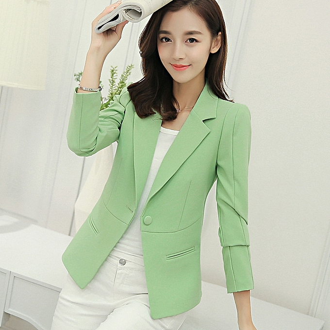 789eac90d4a81 Generic New slim short small suit ladies jacket female wild casual ...