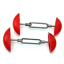 Pair Mini Shoe Boot Stretcher Shaper Width Adjustable Extender Men Women 7-12cm Red