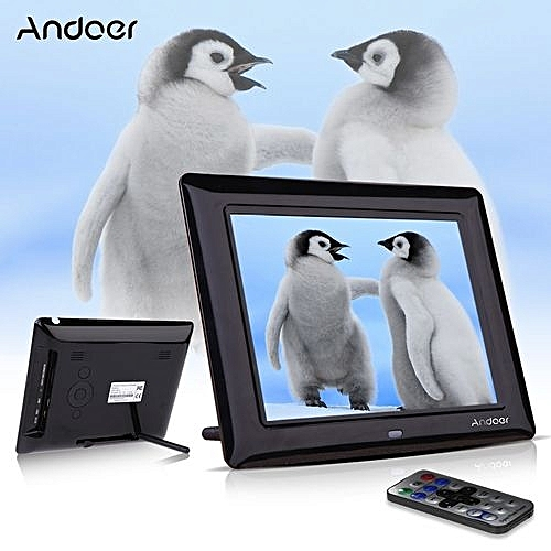 Buy Andoer 8\'\' HD TFT-LCD Digital Photo Frame Clock MP3 MP4 Movie ...