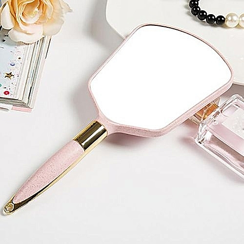high definition handle cosmetic mirror hand holding beauty portable highend european retro hand holding mirror u1 hand