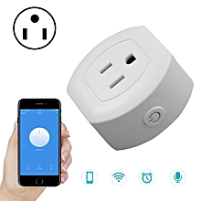 SA-003 10A Mini WiFi Plug Timing Smart Socket Works with Alexa & Google Home, AC 100-240V, US Plug