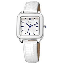 White Rectangle Dial watch