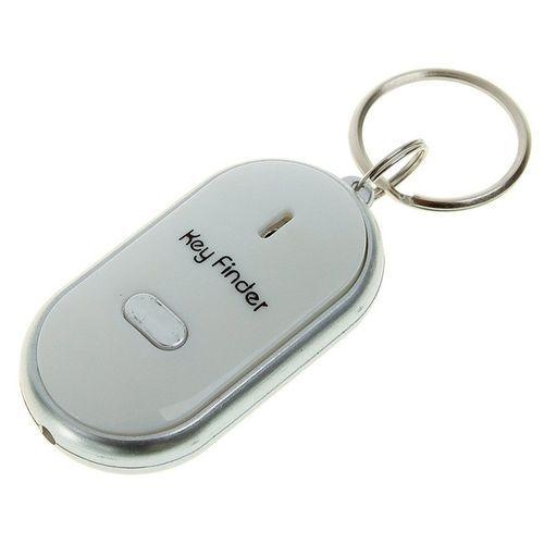Whistle Key Finder Flashing Beeping Remote Lost Keyfinder Locator Keyring White - -0