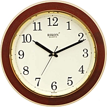 Wall clock Big Size1607 - Round shaped,  Brown ivory plastic frame 44.5 cm diameter