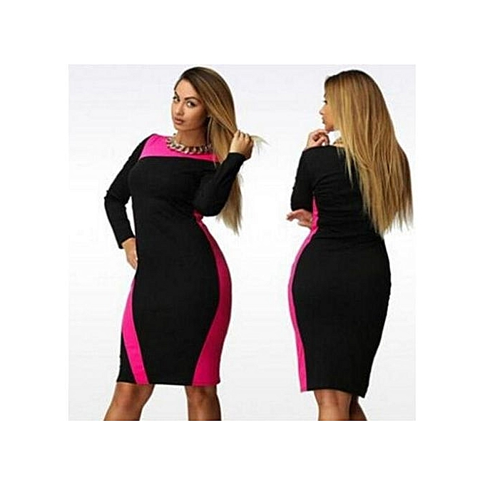 Buy Generic Large Size Dresses For Ol Ladies Business Office Dresses