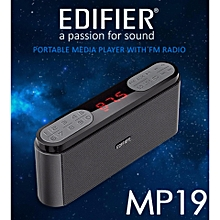 Edifier MP19 Portable Music Media Player Speaker With FM Radio SD/USB AUDIO/FM Radio/AUX (Iron Grey)   POWERLI