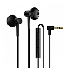 BRE01JY Dual Drivers In-ear Earphone with Microphone Line Control - Black