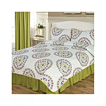 3 Piece Bed Cover Set - UltraSonic Embossed – Queen Size  –  Kalista