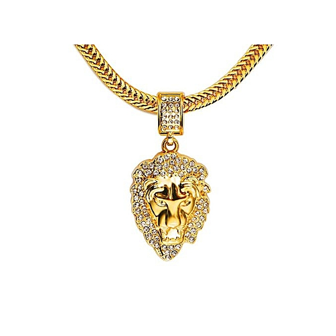 Buy generic 18k gold plated diamond lion pendant necklace necklace 18k gold plated diamond lion pendant necklace necklace to show mens personality aloadofball Choice Image