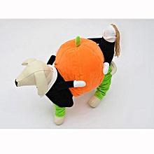 Super whimsy moving Halloween pumpkins garment four feet pumpkin pet dog clothes-Ashow