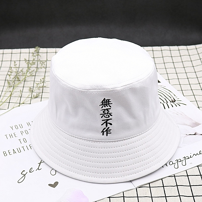 b2aabe11a32 1White(do every evils-make merry while one can)Ulzzang fisherman hat male