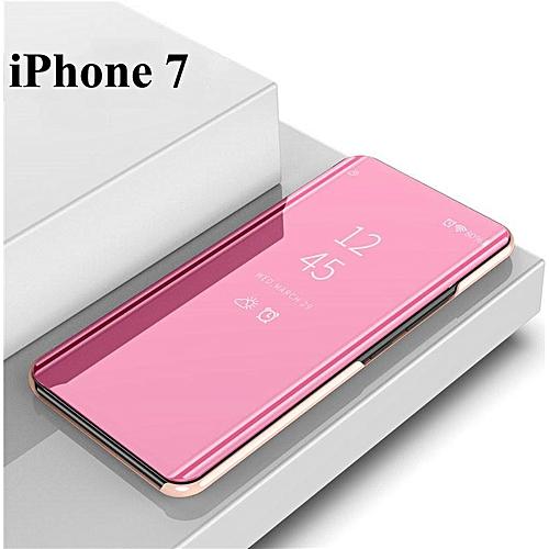 brand new 77c78 866fe Mirror Flip Cover Stand Flip Case Suit For IPhone 6/6s/6plus/6s  Plus/7/7plus/8/8plus (iPhone 7-rose gold)