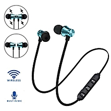 Olivaren BT 4.1 Stereo Earphone Headset Wireless Magnetic In-Ear Earbuds Headphone -Blue