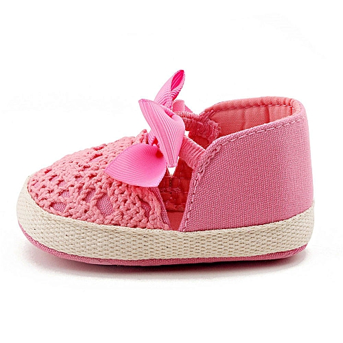 dbb6571541172 Toddler Girl Soft Sole Crib Shoes Sneaker Baby Shoes HOT/1-Hot Pink