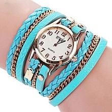 CCQ Luxury  Vintage Leather Bracelet Watch Men Women Wristwatch  MG