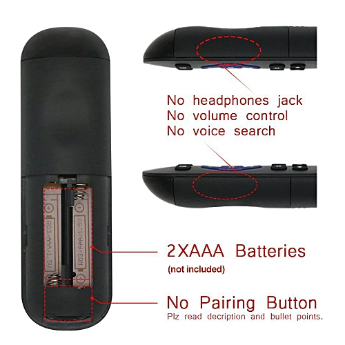 Streaming Media Player Remote Control Wireless IR Smart Controller  Replacement for Roku 1 2 3 4 LT HD XD XS Black