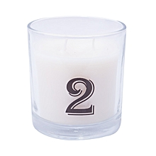 """Number """"2"""" Alphabet Scented candle - White"""