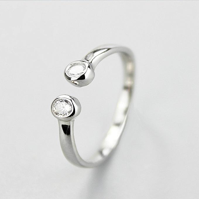 550a24fd461c3 Fashion Simple Jewelry Silver Diamond Ring
