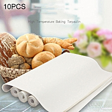 10 PCS Cuttable Reusable High Temperature Resistance Anti-stick Baking Tarpaulins, Size: 40x60cm, Random Color Delivery