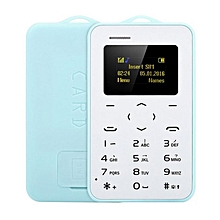 AIEK C6 Ultra Thin Mini Bluetooth GSM Candy Color Credit Card Mobile Phone Blue