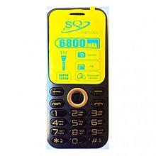 SQ1000S - 6800mAh Dual SIM Wireless FM Camera Phone - Black