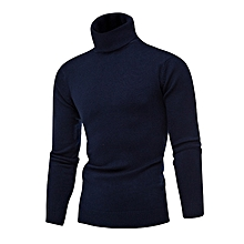 Men's Cashmere Turtleneck Slim Fit Knitted Sweater Pullover