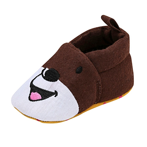 7817a88868f Fashion Newborn Toddler Baby Girls Boys Cartton Indoor Solid Soft Sole  Casual Shoes-Coffee