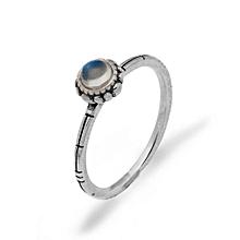 Hot Sale Daisy 925 Sterling Silver Blue Ray Sri Lanka Moonstone Flower Ring Ring Size US 8